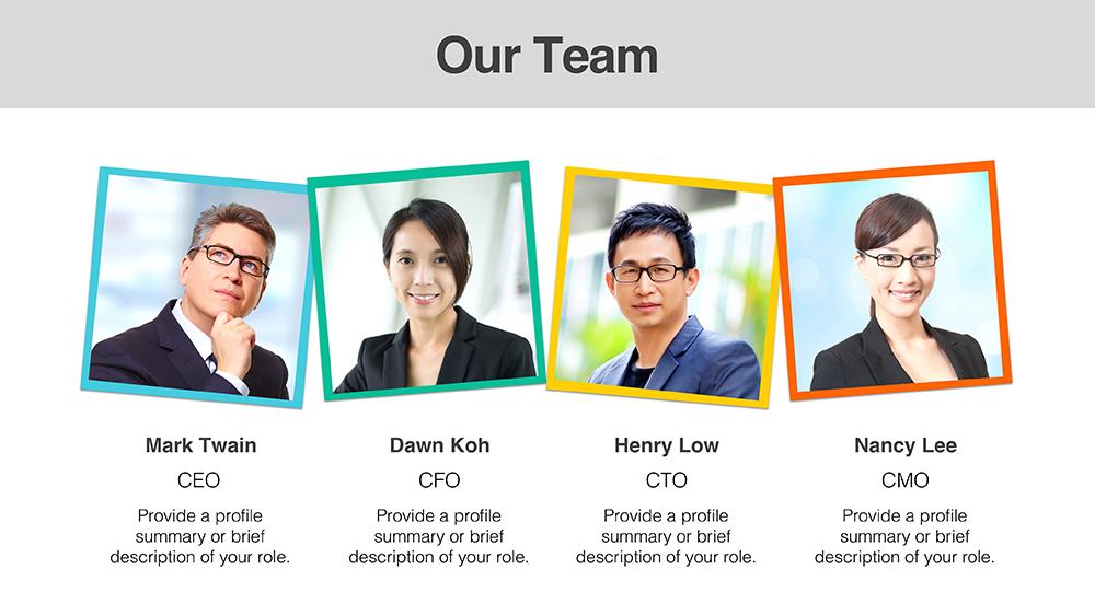 Download Team Member Templates | PresoMakeover