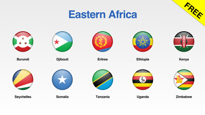 Eastern Africa Flags