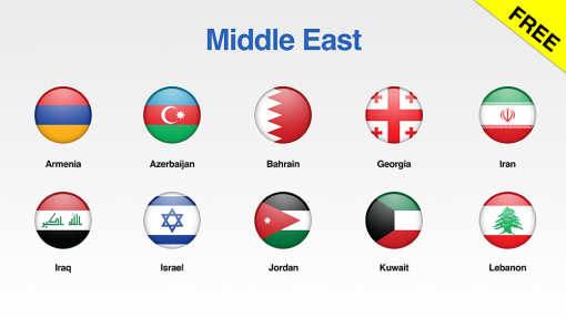 Middle East Flags Showcase