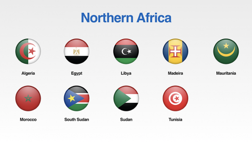 Northern Africa Flags