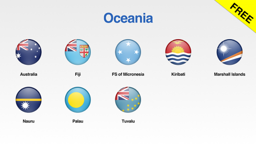 Oceania Flags Showcase