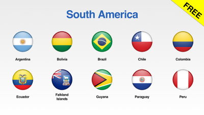 South America Flags Showcase
