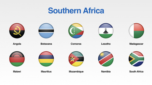Southern Africa Flags