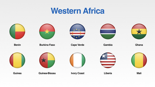 Western Africa Flags