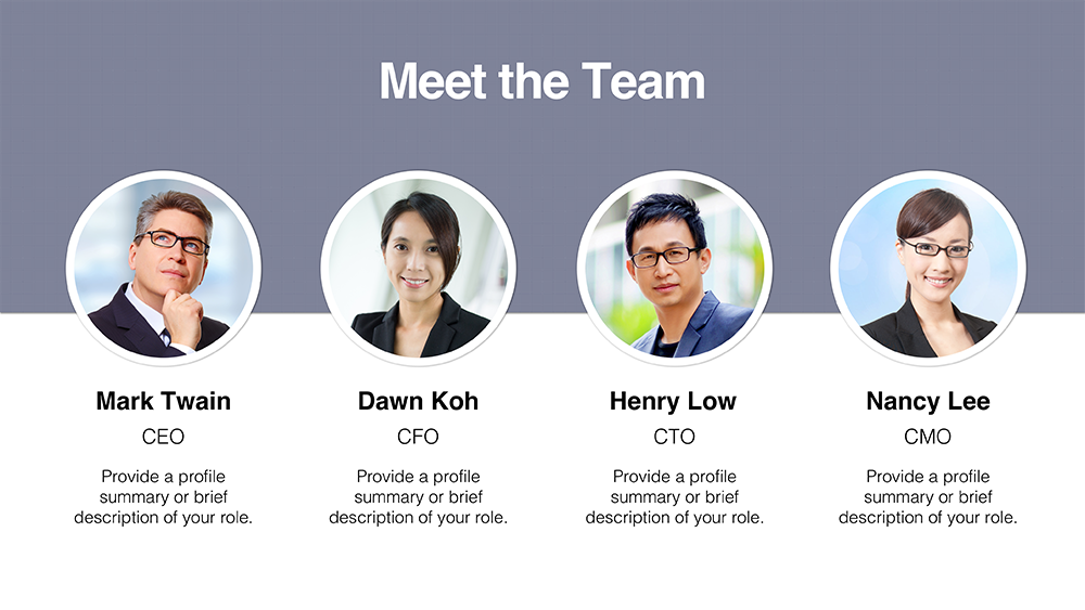 Download Team Member Templates | PresoMakeover