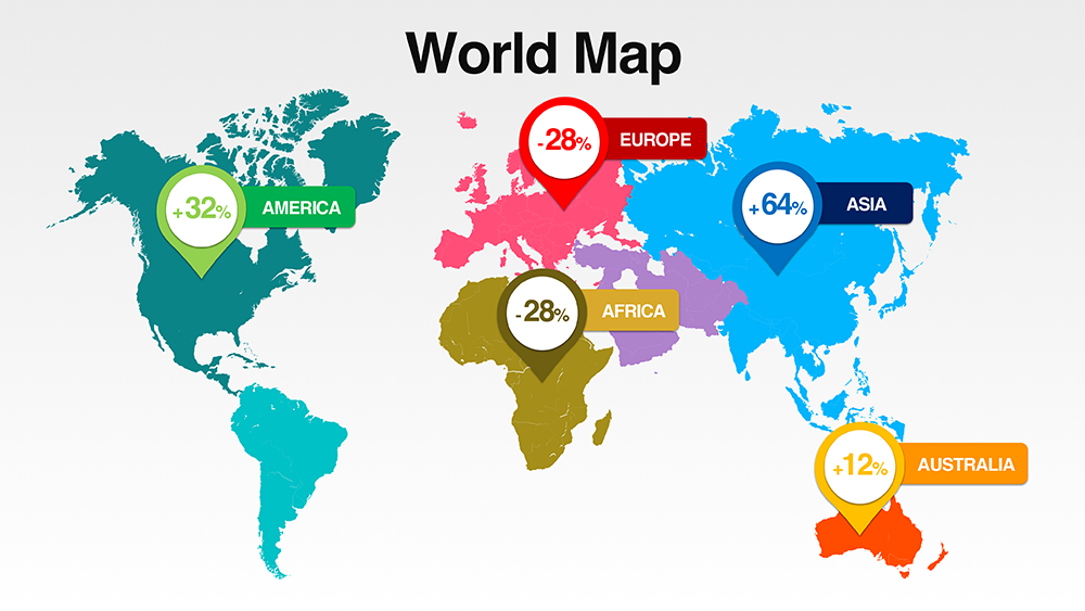 Download World Map with All Countries | PresoMakeover