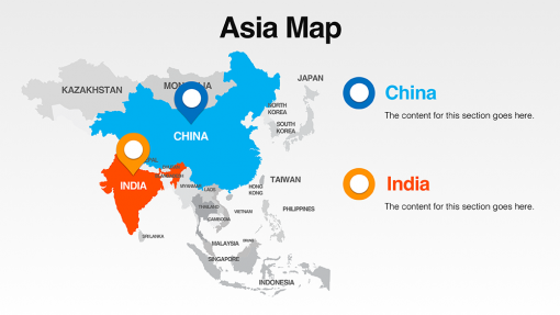 Asia Map Template