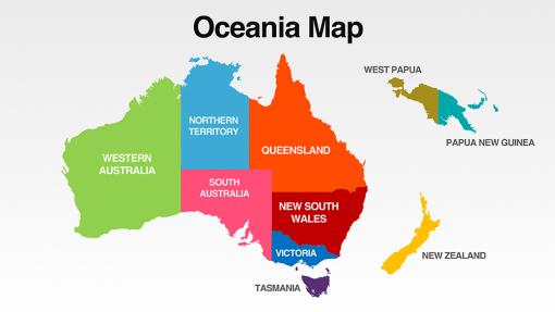 Oceania Map Template