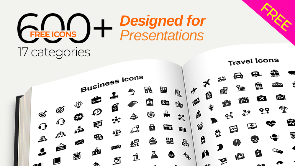 Download 600+ FREE Vector Icon Pack for Presentations