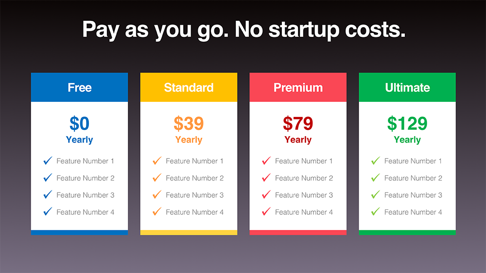 download pricing table templates presomakeover
